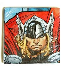 NEW ~THOR THE MIGHTY AVENGER  16-DESSERT NAPKINS.-  PARTY SUPPLIES