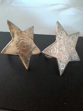 Two Silver Plated Stars Napkin Rings
