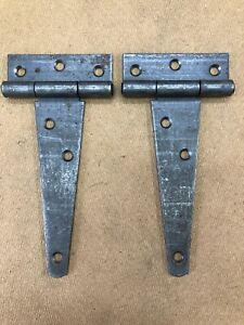 """1 PAIR 6"""" HEAVY SCOTCH TEE T HINGES STRAP"""