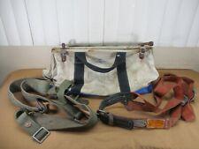 Lineman Belt Lot Klein Climbing Belt 5444lb Estex Heavy Duty Canvas Tool Bag