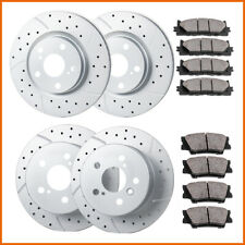 Fit 2007 2008 2009 2010 2011 Toyota Camry Front & Rear Brake Rotors Ceramic Pads