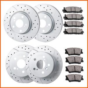 2008-2012 Toyota Avalon - 2007-2011 Toyota Camry Detroit Axle Complete Rear Brake Kit Rotors Set /& Brake Kit Pads w//Clips Hardware Kit Premium GRADE for 2007-2012 Lexus ES350 -
