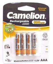 Akku 4 Stück Camelion  AAA 1,2 Volt 600mAh HR03 für Solarlampe Wiederaufladbar