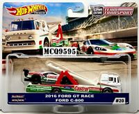 HOT WHEELS 2020 CAR CULTURE TEAM TRANSPORT 2016 FORD GT RACE / FORD C-800