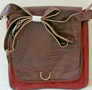SHOULDER PURSE  Bijoux Terner BURGUNDY WINE RED MEDIUM SIZE