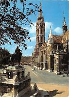 B27502 Budapest Matyas-templom a Szent Istvan-szoborral    hungary