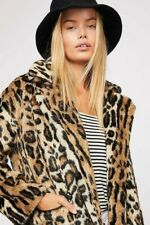 Free People Kate Leopard fur Coat Size large 14/16  bnwt