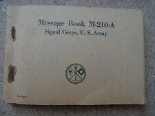 US ARMY MESSAGE CARNET BOOK M-210-A SIGNAL CORPS MATERIEL ORIGINAL
