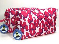 2pc Estée Lauder Fabric Makeup Bag with Bee Charms (Pink,White,Blue,Purple)