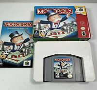 Monopoly Nintendo 64 N64 In Box With Manual Tested Works 0952