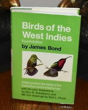 BIRDS OF THE WEST INDIES 4th Edition by James Bond (Ian Fleming) 1985 Like New!
