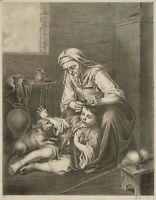 J.SELB (1784 Unterstockach-1832), n.MURILLO (1618), Beim Lausen, Lith., um 1815