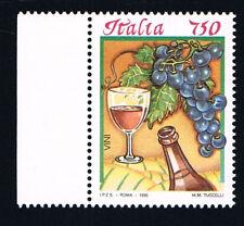 ITALIA 1 FRANCOBOLLO I CIBI ITALIANI VINO ROSSO 750 Lire 1996 nuovo**