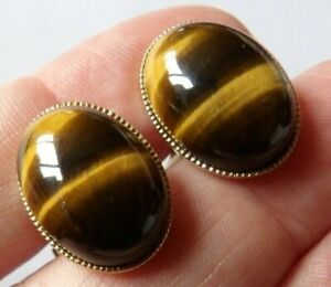 EXCELLENT VINTAGE GOLD PLATED TIGERS ETE SWIVEL BACK CUFFLINKS BBB-20