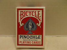Bicycle Pinochle 48 Regular Index Single Deck Playing Cards Air Cushion USPCC!