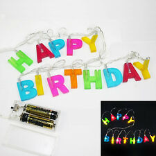 Happy Birthday luci a LED Stringa Banner divertente Party Regalo Decorazione SEGNO REGALO