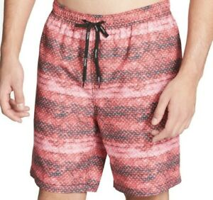 Calvin Klein Mens Red Size 2XL Geo Print Swimwear Board Surf Shorts