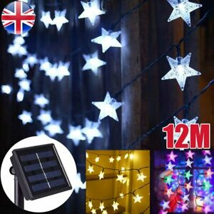 100 LED Solar Powered Fairy String Twinkle Star Lights Outdoor Garden Party SALE