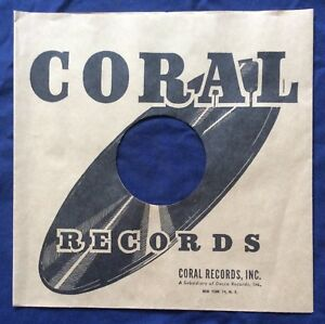"""CORAL 10""""/ 78 R.P.M.  REPRODUCTION RECORD COMPANY SLEEVES - (pack of 10)"""