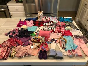 """18"""" Doll Clothing, Shoes, Accessories Pets Fits American Girl, Battat, OG 50+ Pc"""