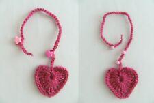 Lesezeichen gehäkelt Herz Buchzeichen Bookmark Geschenkidee Bücher Herzen Perlen