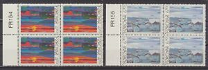 Faroe Islands 1987 Art, Torshavn Views, Plate Blocks of 4s, UNM /MNH
