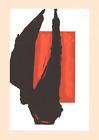 ROBERT MOTHERWELL Art Chicago (No Text) 27 x 20 Lithograph 1981 Expressionism Re