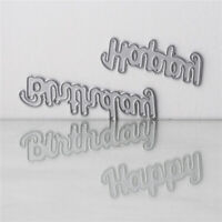 Happy Birthday Cutting Die Stencil DIY Scrapbooking Card Paper Album Emboss Y5E7
