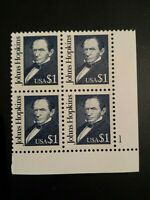 MNH DULL GUM US STAMPS SC # 2194 $1 BLOCK OF 4 PLATE NUMBER CV $10.00