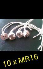 10  x Casquillo Portalamparas ceramico MR16 / bombilla led  2 pines