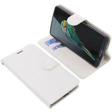 Tasche für TP-Link Neffos C5 Max Book-Style Schutz Hülle Handytasche Buch Weiß