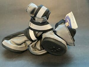 Top Paw Boots for X-Small Dogs Rubber Bottoms Reflective Straps 4 Pieces 1 Set