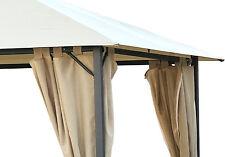 4 Seitenteile zu Pavillon Nizza 3x3m  Sand Sichtschutz NEU & OVP