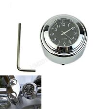 """1"""" 7/8"""" Chrome Dial Clock Glow For Honda Gold Wing GL 1100 1200 1500 1800"""