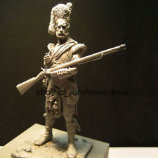 Unpainted 75mm Ancient Highland Warrior Garage Kit 1:24 Scale Resin Figure Model