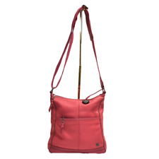 The Sak Iris Crossbody Purse Handbag Pink Pebbled Leather Shoulder Travel Bag