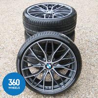 "NEW GENUINE BMW 1 & 2 SERIES 19"" 405 M SPORT DOUBLE SPOKE ALLOY WHEELS TYRES F20"