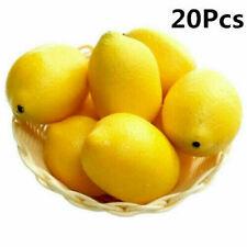 20Pcs/set Artificial Plastic Limes Lemon Fake Fruit Realistic Home Decor Props