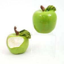 Salt Pepper Shaker Set Green Apple Collectible Kitchen Decorative Home Goldminc