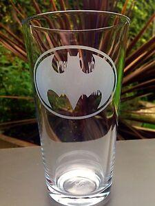 Engraved Batman Pint Glass - Free Personalisation  - New