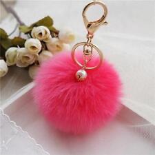 Faux Kaninchenfell Ball Keychain  Plüsch Auto Schlüsselanhänger mit 13 Farben