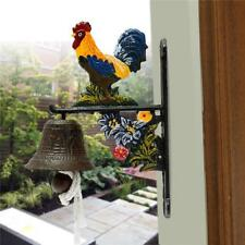 Vintage Style Metal Cast Iron Rooster Door Bell Wall Mounted Home Garden Decor