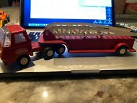 Vintage Tonka Mini Fire Ladder Truck and Trailer - Mid 1960's