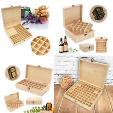 24/25/32/72 Slots Essential Oil Storage Box Wooden Case Container Aromatherapy