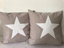 1 housse de coussin style maison de campagne étoile taupe/blanc 50X50CM