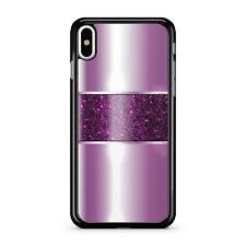 Printed Pink Metallic Effect Printed Purple Lush Glitter 2D Phone Case Cover
