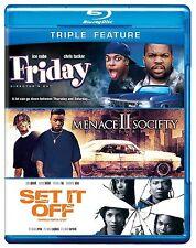 Blu Ray FRIDAY, MENACE II 2 SOCIETY & SET IF OFF. UK compatible. New sealed.
