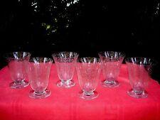BACCARAT MICHELANGELO MICHEL ANGE 6 WATER GLASSES 6 VERRES A EAU CRISTAL GRAVÉ