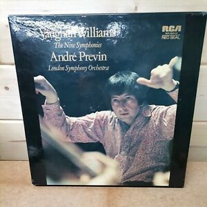 ANDRE PREVIN LSO VAUGHAN WILLIAMS THE NINE SYMPHONIES 1972 RCA 7LP VINLY BOXSET