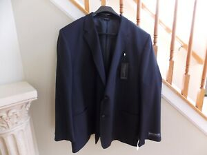 Men's NWT Navy Pinstripe Henry Grethel Suit Jacket Big & Tall Size 56L